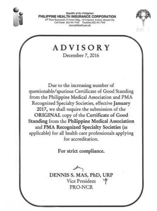 Philhealth Renewal Advisory