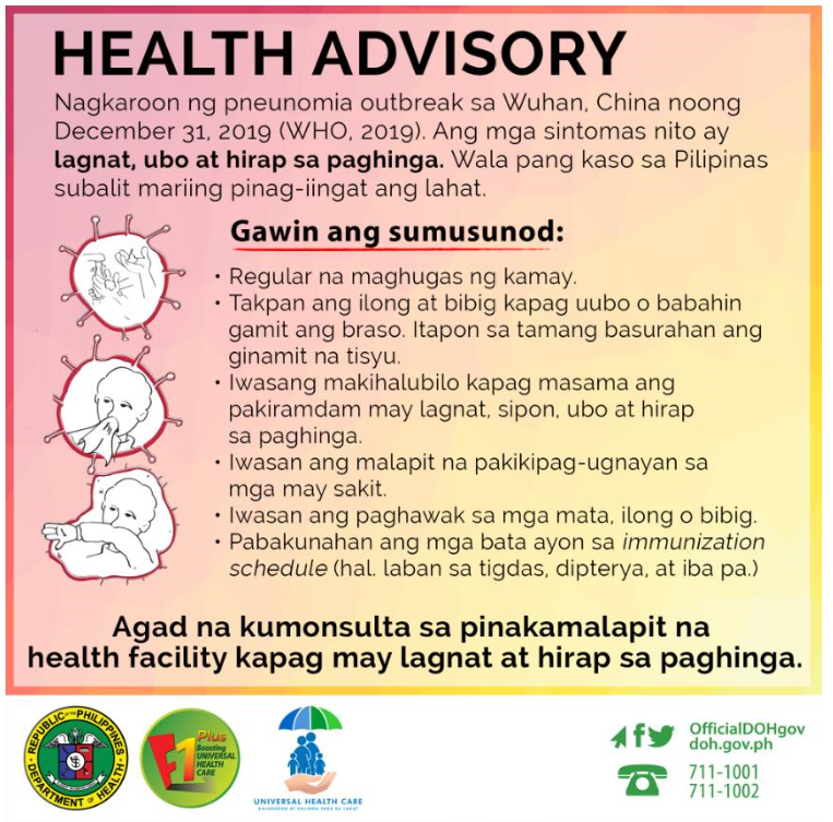 Health Advisory nCoV